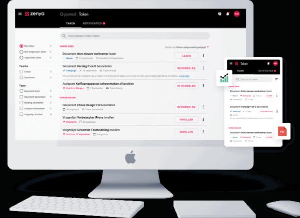Zenya Software Q-portaal Takenlijst