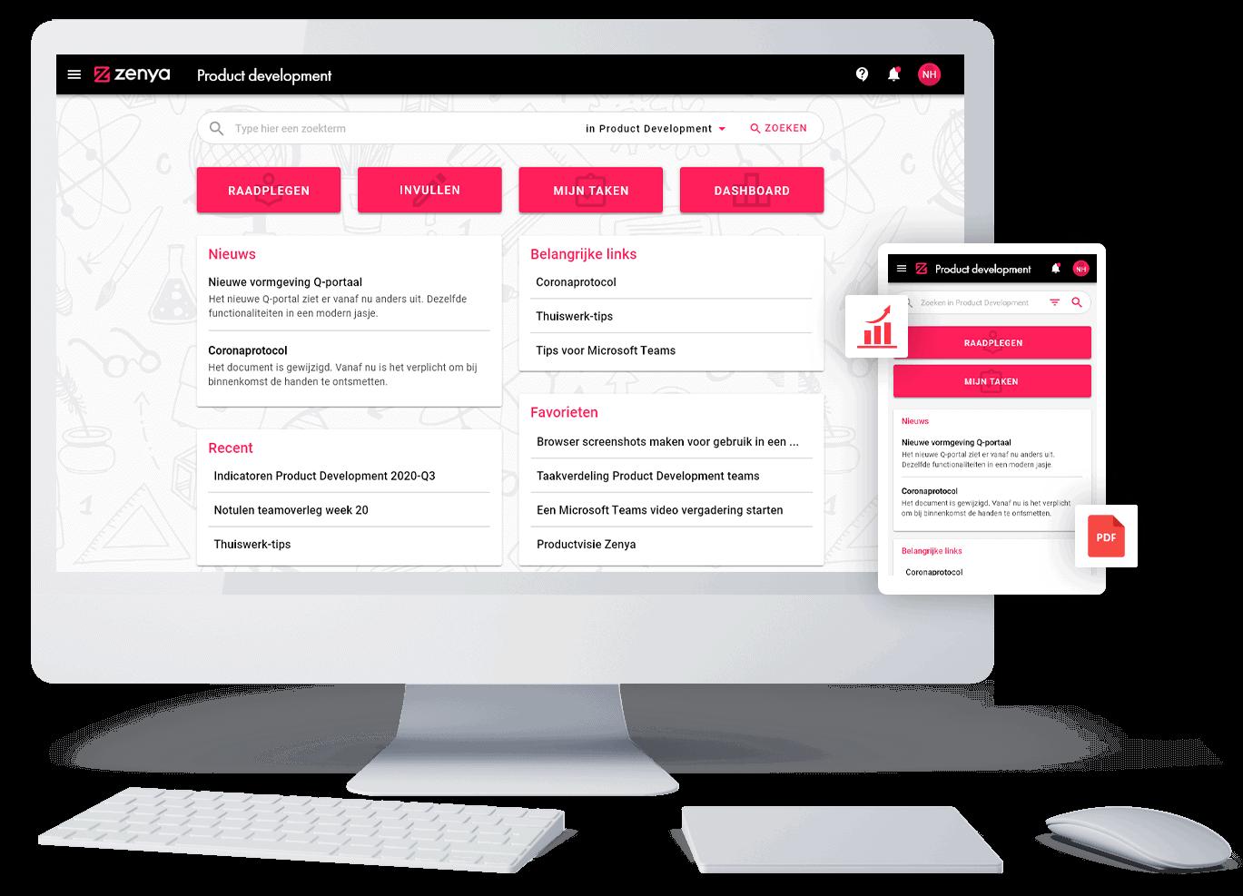 Zenya Software Suite - Portaal
