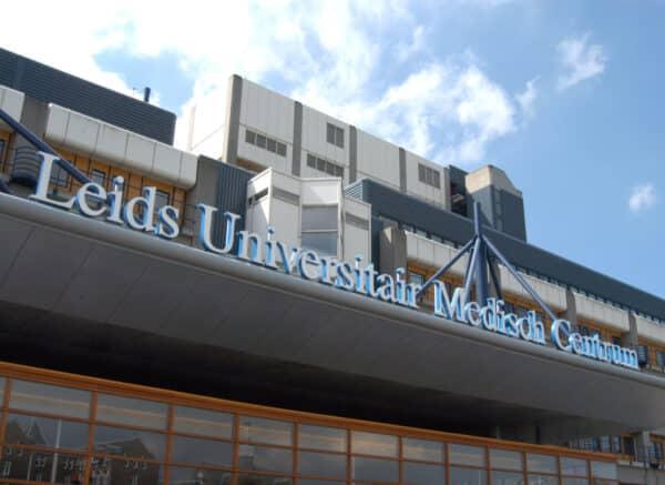 Entree van het Leids universitair Medisch Centrum