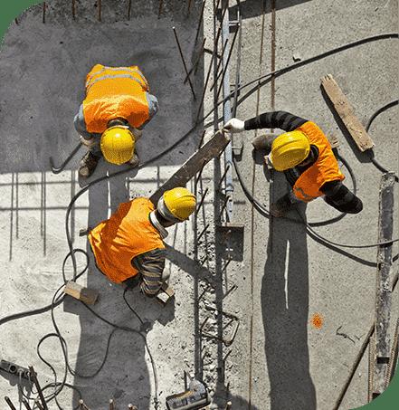 Samenwerken in de bouwsector op een werkplaats