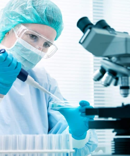 Biochemisch monster in laboratorium